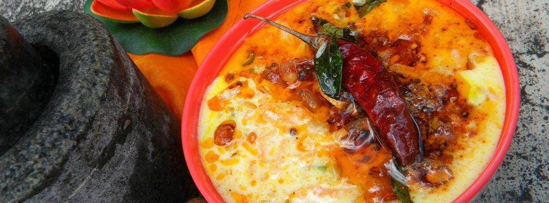 Carrot in Yogurt Sauce (Carrot Pachadi)