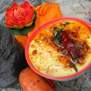 Carrot in Yogurt Sauce (Carrot Pachadi)