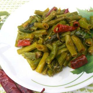 String Beans Saute (Payar Mezhukkupurati)