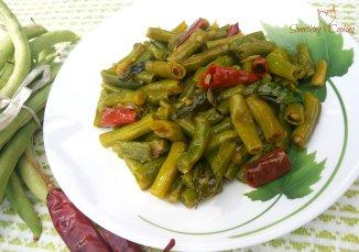 String Beans Saute - Beans Mezhukkupurati- Kerala