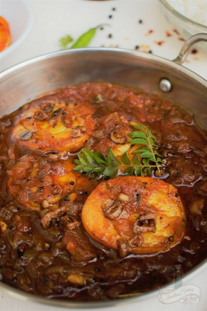 Chettinad Boiled Egg Curry - Chettinad Egg Curry without Coconut