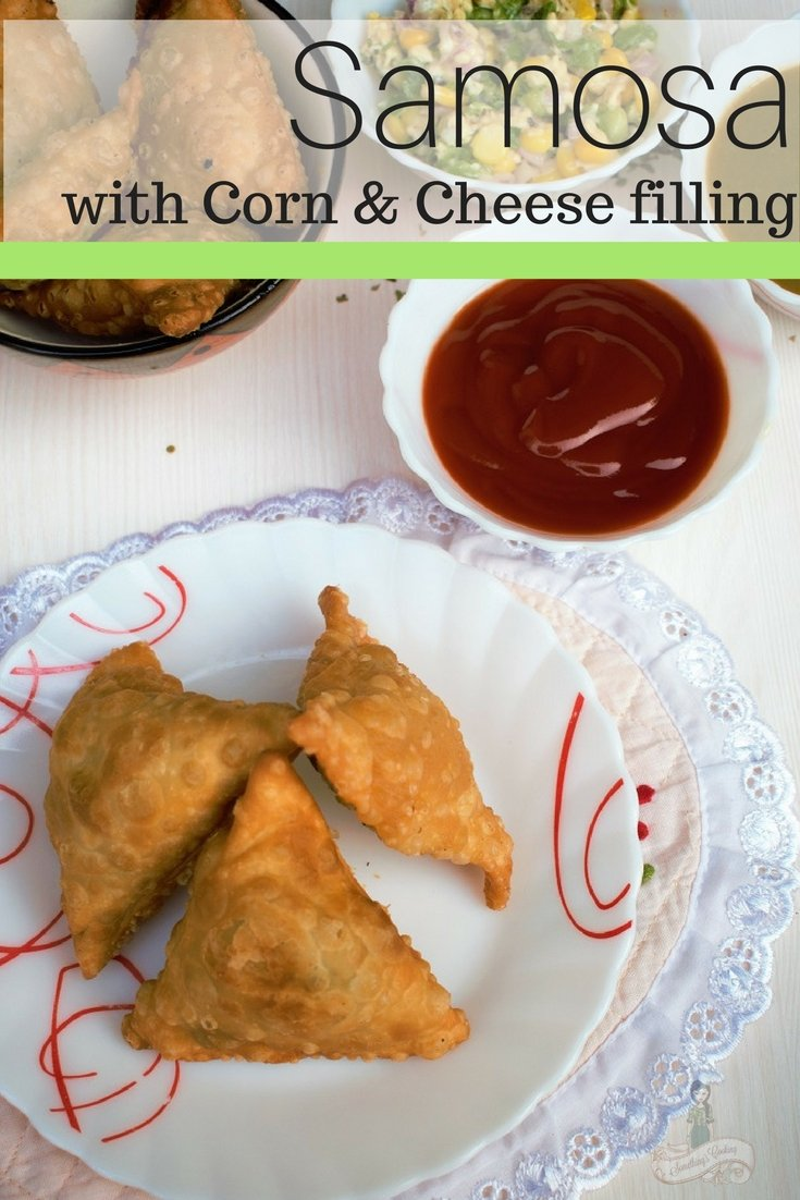 Samosa with Corn Cheese Filling