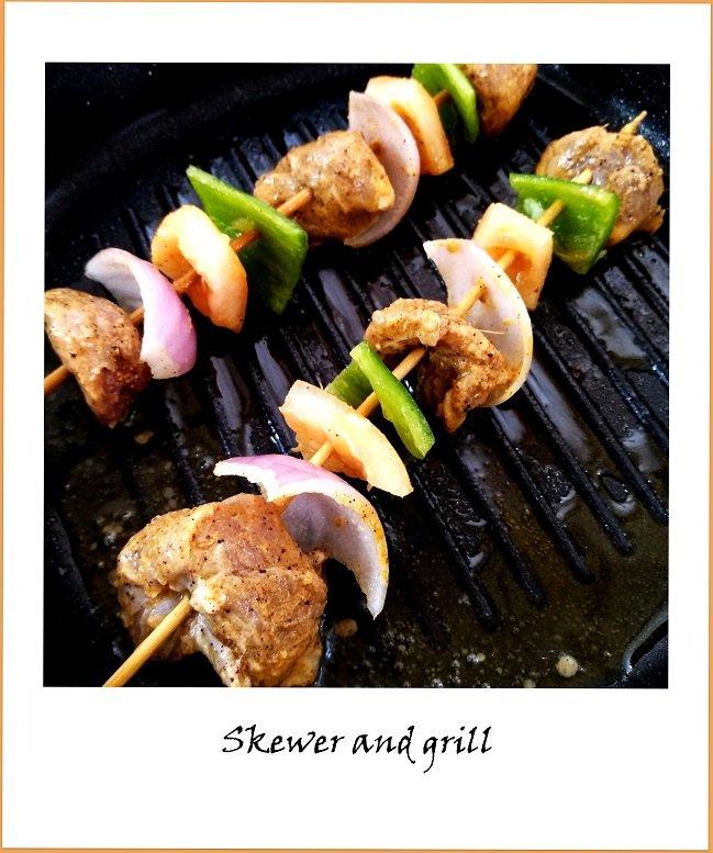 Lamb Kebab Step by step Instructions- How to make lamb kebabs at home
