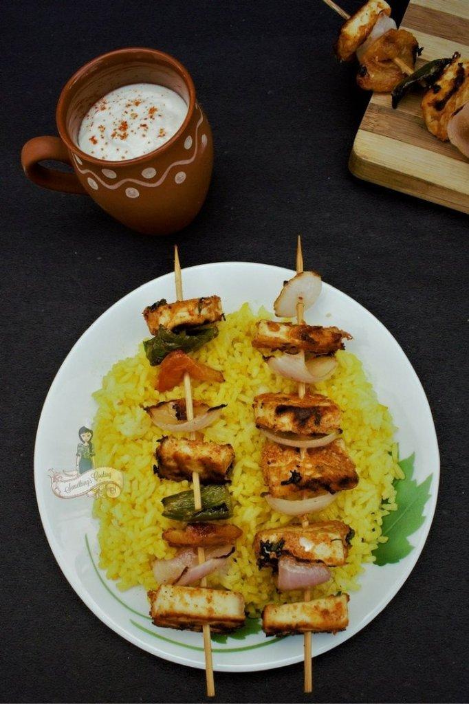 Tandoori Paneer TIkka recipe somethingiscooking.com