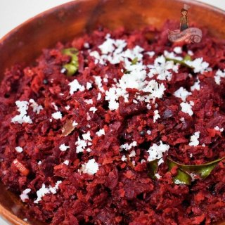 Beetroot with Crushed Coconut | Beetroot Thoran
