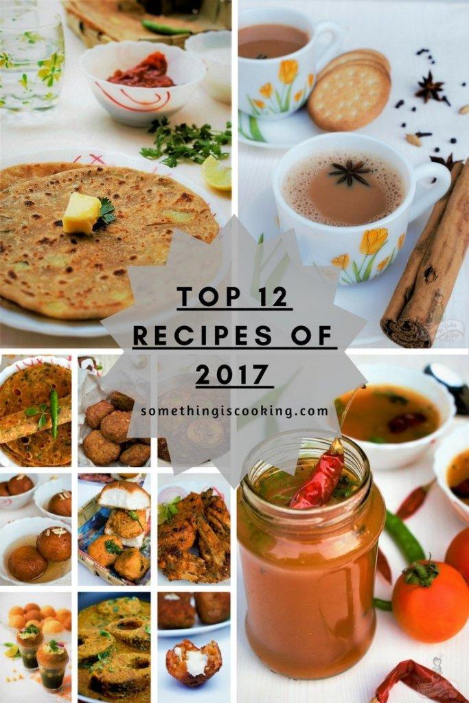 Top 12 Recipes of 2017 recipe roundup 2017 somethingiscooking.com