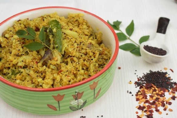 How to make Kerala Style cabbage thoran
