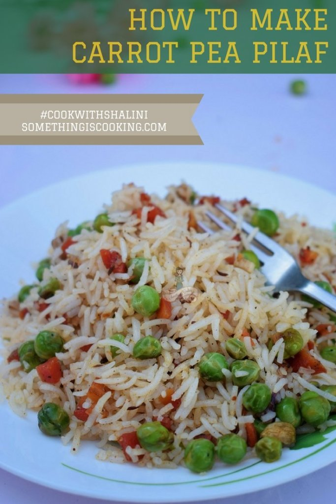 Carrot and Pea Pilaf Pinterest