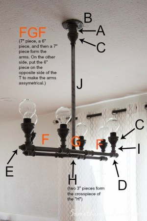 DIY Steel Pipe Chandelier