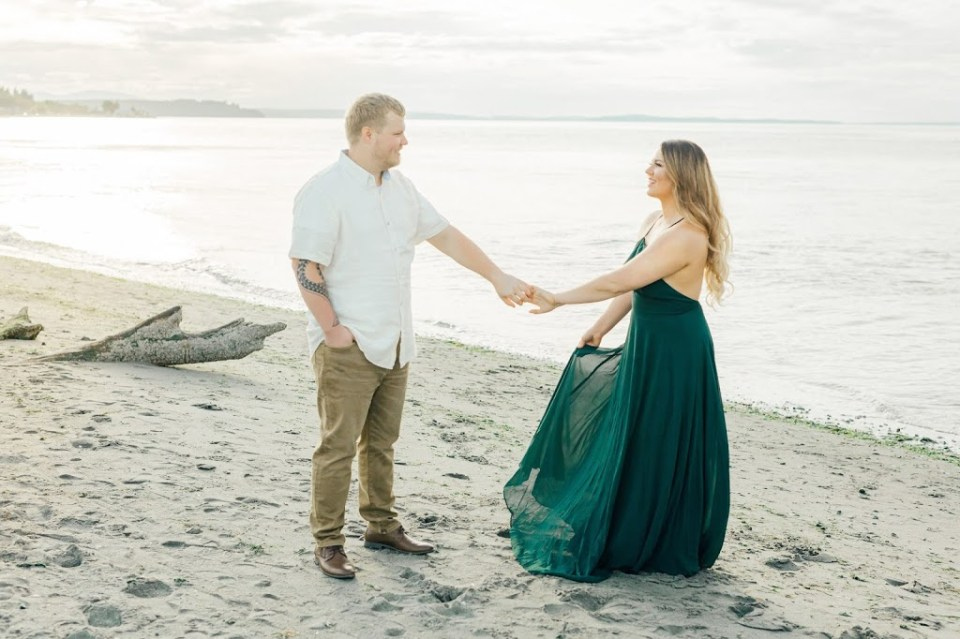 Point No Point Photography-PNW Beach Engagement Session-Something Minted Photography