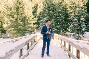 Winter Elopement-December Wedding-Mount Rainier Elopement-Winter Wedding Photography-Snowy Bride and Groom Photos-Something Minted Photography