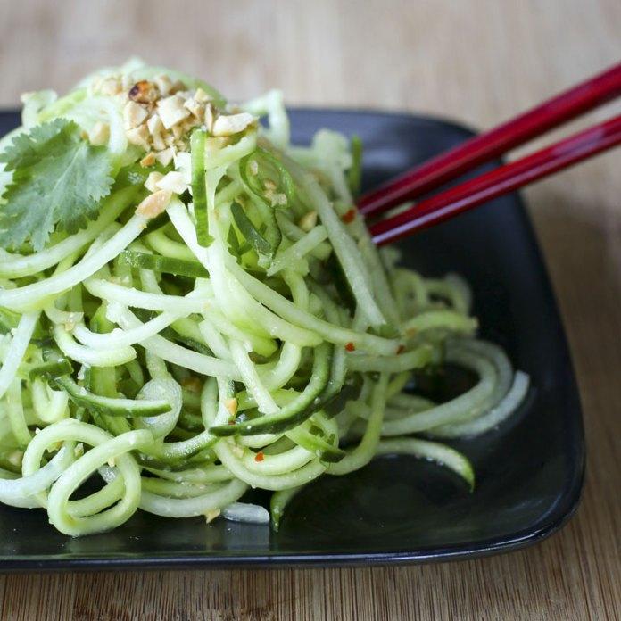 Cucumber Noodle Salad | Something New For Dinner