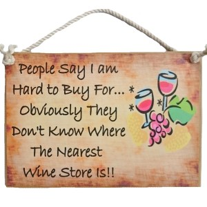 Country Printed Quality Wooden Sign NEAREST WINE STORE Funny Inspiring Plaque New