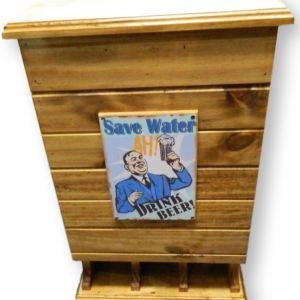 French Country Timber Wooden Stubby Cooler Holder Medium Bar Pub Drinking Cans