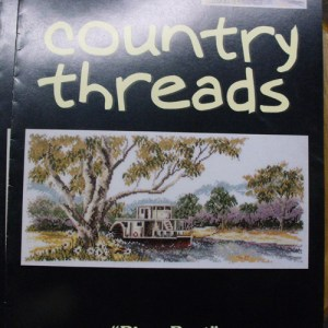 Country Threads Cross Stitch Counted X Stitch Pattern RIVERBOAT New