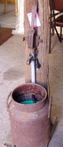 CREAM CAN WATER FEATURE Rustic, Handmade