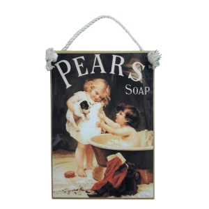 Country Printed Quality Wooden Sign PEARS HIS TURN NEXT Bathroom Plaque New