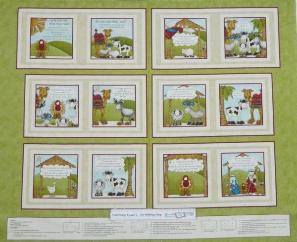Country Patchwork Quilting Fabric Do you See Book Sewing Panel 60x110cm New