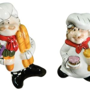 Collectable Novelty Salt and Pepper Shakers Set COOKING CHEFS Kitchen FREEPOST NEW