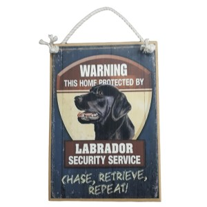 Country Printed Quality Wooden Sign LABRADOR SECURITY SERVICE New Plaque Sayings