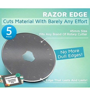 Set of 5 Rotary Cutting Blades 45mm Fits All Brands, Olpha, Clover, Truecut, Kai NEW