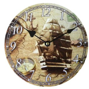 Clock French Country Vintage Inspired Wall Clocks Time Old Ship 2 Small 19cm