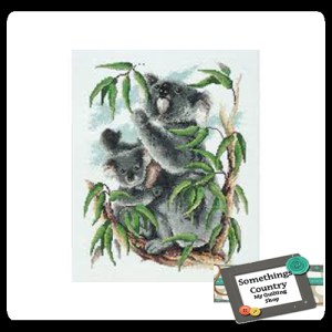 DMC Cross Stitch Kit KOALA Counted X Stitch NEW incl Thread & Cloth