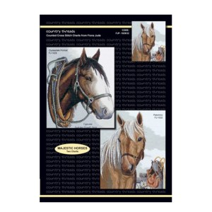 Country Threads X stitch Counted Cross Stitch Pattern Majestic Horses New FJP-1029/32 (CT)
