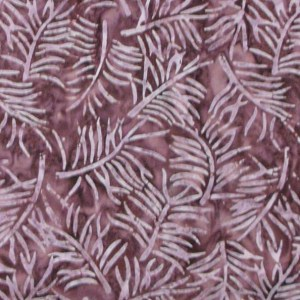 Quilting Patchwork Sewing Batik PINK MAROON LEAVES Cotton 50x55cmFQ NEW