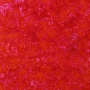 Quilting Patchwork Sewing Cotton Batik RUBY RED Cotton 50x55cm FQ NEW