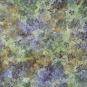 Quilting Patchwork Sewing Cotton Batik EARTHY PURPLE LEAVES B Cotton 50x55cm FQ NEW