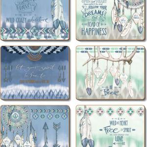 Country Kitchen GYPSY Motorbikes Cork Placemats/Coasters Set 6 NEW Cinnamon