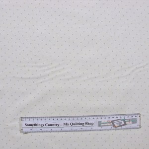 Quilting Patchwork Sewing Fabric GENTLE GARDEN WHITE WITH GREEN SPOTS 50x55cmFQ NEW