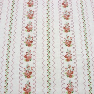 Quilting Patchwork Sewing Fabric GENTLE GARDEN FLORAL BORDER CREAM 50x55cmFQNEW