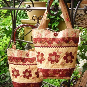 Quilting Sewing Bag Pattern DILLY-DALLY-DAISY Sally Giblin Rivendale Collection NEW