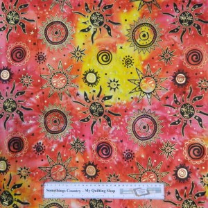 Quilting Patchwork Sewing Cotton Fabric SUN LOVER 50x55cm FQ NEW