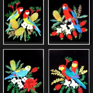 Quilting Patchwork Applique Batik Quilt by Numbers ROSELLA A Fabric Kit New