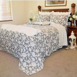 French Country Vintage Inspired Patchwork Bed Quilt JULIETTE New Coverlet