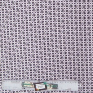 Quilting Patchwork Sewing Cotton Fabric PURPLE CROSSES ON WHITE Wider 150x50cm New