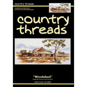 Country Threads Cross Stitch Counted X Stitch Pattern Graph WOOL SHED New FJ-1003