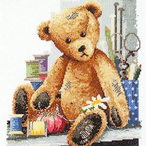 Country Threads Cross Stitch Counted X Stitch Pattern Graph THREAD BEAR New FJ-3002