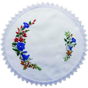 Printed Stamped Embroidery 30cm Doily Hand Stitching AUSTRALIAN BORONIA FLOWERS New