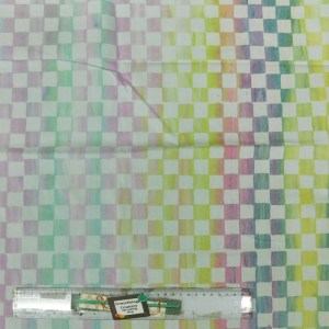 Patchwork Quilting Sewing Fabric CHECKERED PASTEL BATIKS Material 50x55cm FQ New