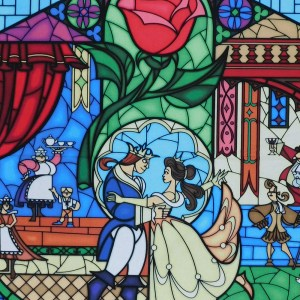 Patchwork Quilting Sewing Fabric BEAUTY AND THE BEAST WINDOW Panel 90 x 110cm New