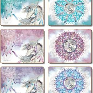 Country Kitchen MYSTICAL SPIRIT Cork Backed Placemats or Coasters Set 6 NEW Cinnamon