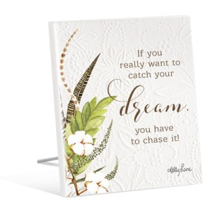 French Country Vintage Inspired Wall Art Wooden CATCH YOUR DREAM Sign NEW