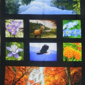 Patchwork Quilting Sewing Fabric BACK COUNTRY DIGITALLY PRINTED Panel 60x110cm New