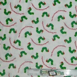 Patchwork Quilting Sewing Fabric HUNGRY CATERPILLAR Material 50x55cmFQ New