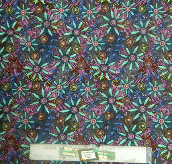 Patchwork Quilting Sewing Fabric WALKABOUT PINK ABORIGINAL Cotton Material 50x55cmFQ New