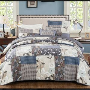 French Country Vintage Inspired Patchwork Bed Quilt DESERT BLOOM New Coverlet